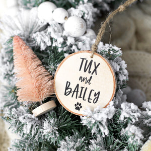 Family Names Photo Ornament