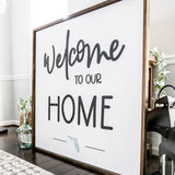 3D Welcome to our Home Framed Sign