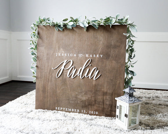 3D Wedding Guestbook Sign