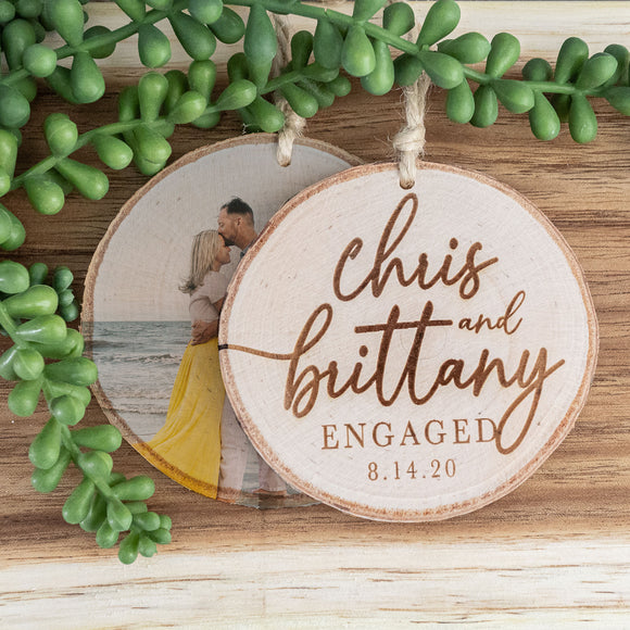 Engagement/Wedding Photo Ornament