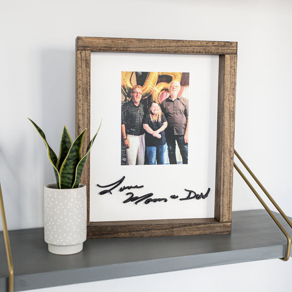 3D Handwriting Sign with Photo