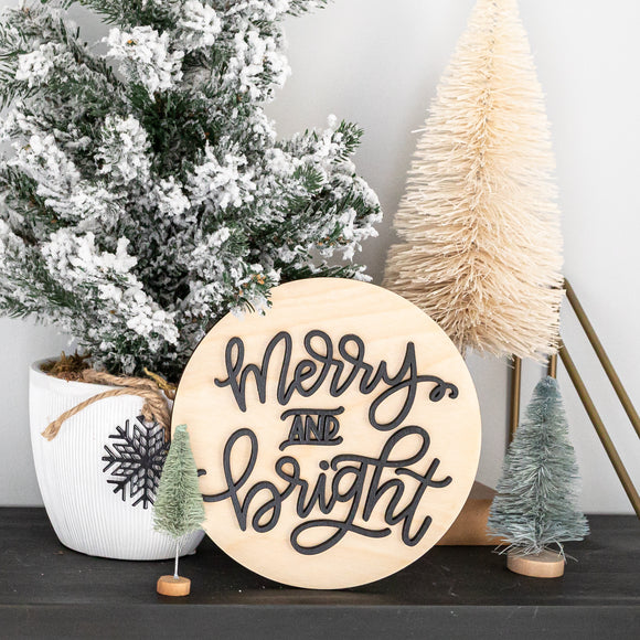 3D Christmas Mini Round Signs