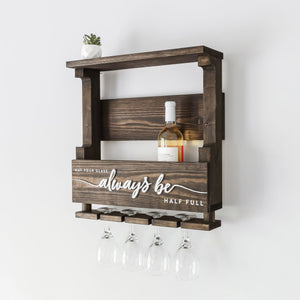 Wood Wine Rack — 3D May Your Glass Always Be Half Full