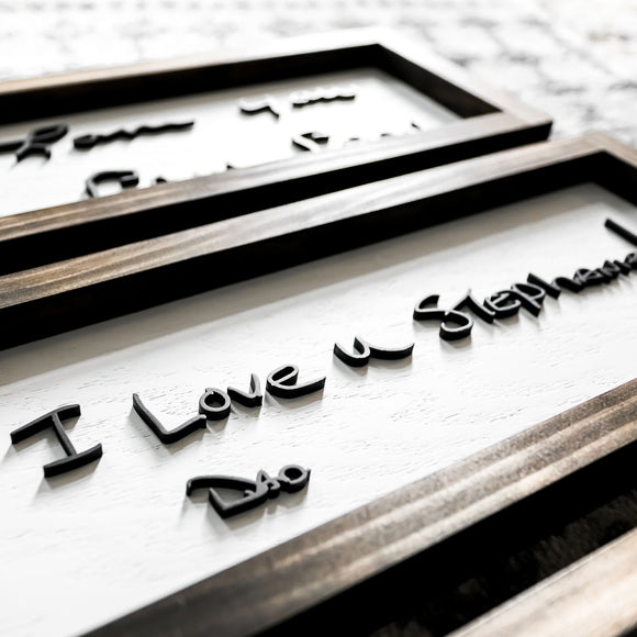 3D Custom Handwriting Sign