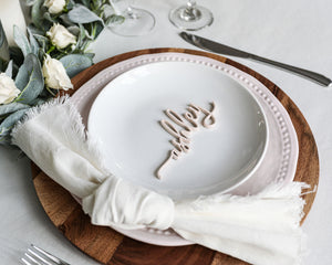 Laser Cut Wood Place Settings