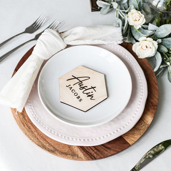 Laser Engraved Wood Place Settings