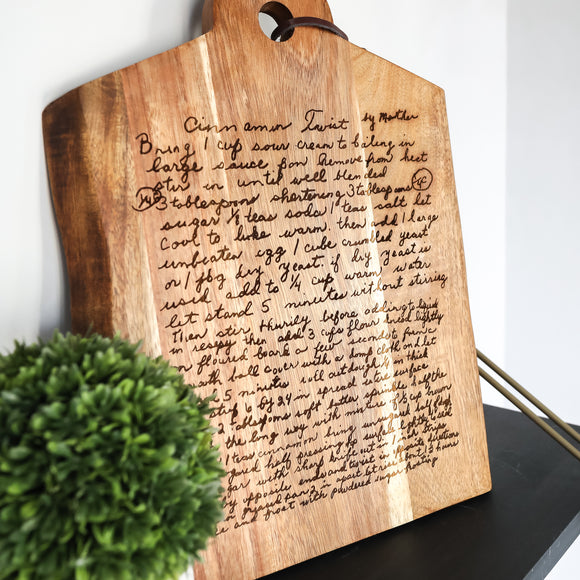 Laser Engraved RECIPE Cutting Board