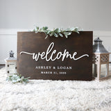 3D Wedding Welcome Sign — 20x30