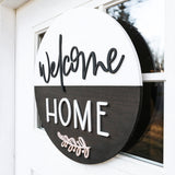 3D Welcome Home Sign