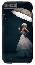 Load image into Gallery viewer, Girl With Umbrella And Falling Feathers IPhone Case