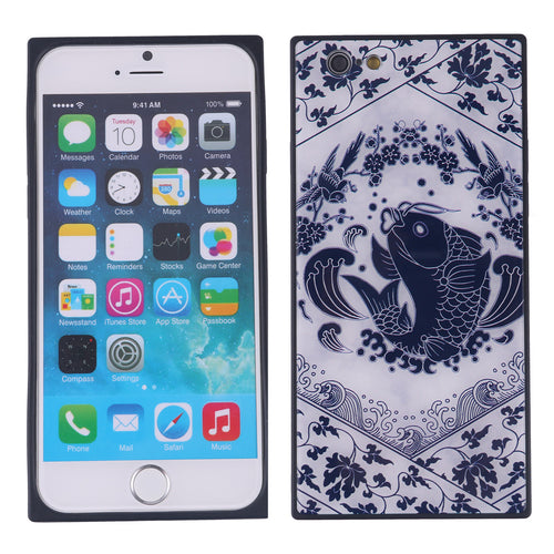 China Style Square Glass Phone Case