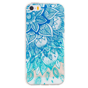 Blue Leaf Embossed