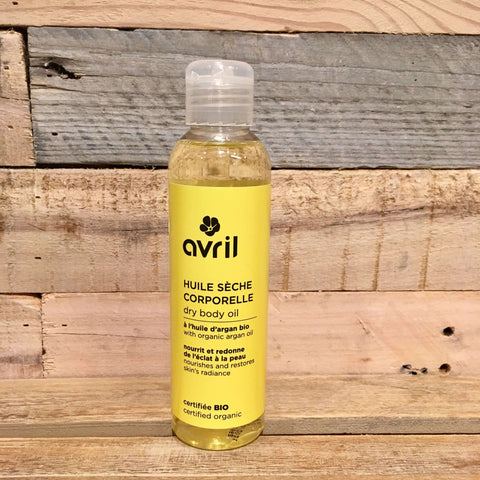 Avril - Øko Kropsolie/Massageolie Argan & Solsikkeolie (150 ml)