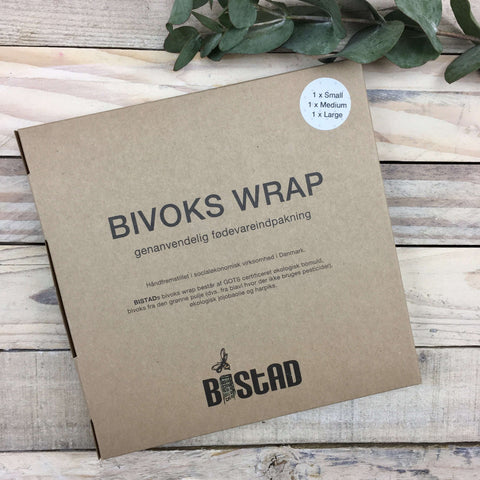 Bistad - Bivoks Wrap - Small / Medium / Large (3 stk)