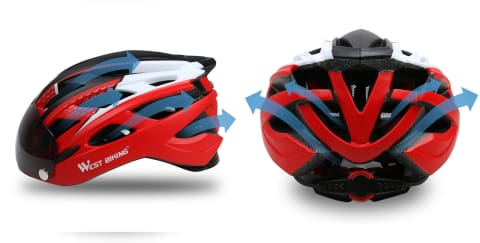 aeration casque west biking