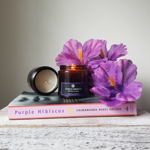 Purple Hibiscus by Sophie Rose Candle Co. Chimamanda Ngozi Adichie