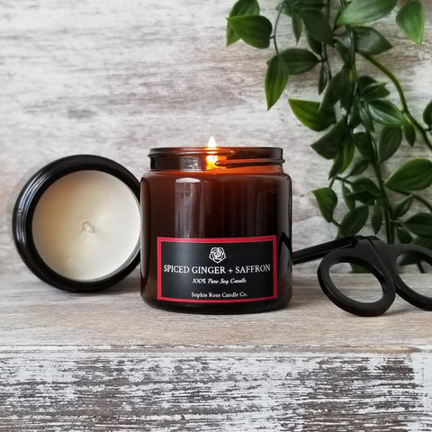 Spiced Ginger + Saffron by Sophie Rose Candle Co.