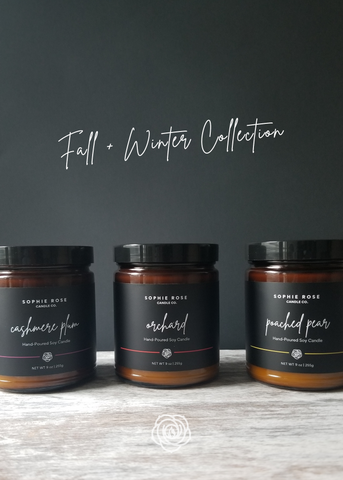 Fall + Winter Collection by Sophie Rose Candle Co.