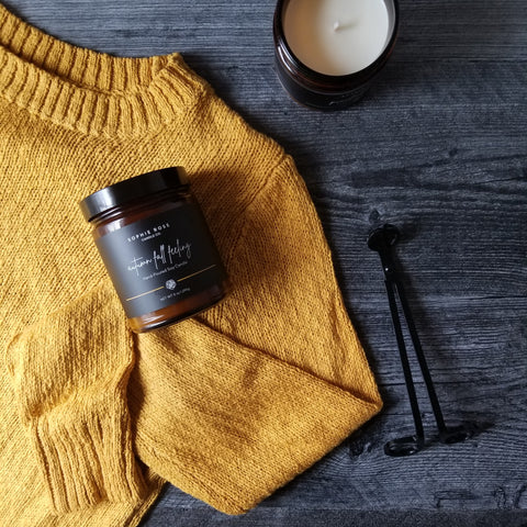 Sweater Weather Autumn Fall Feeling by Sophie Rose Candle Co.
