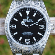 ULTRA RARE Rolex Explorer Hand-Engraved Masterpiece ref. 214270 (1 of 1)