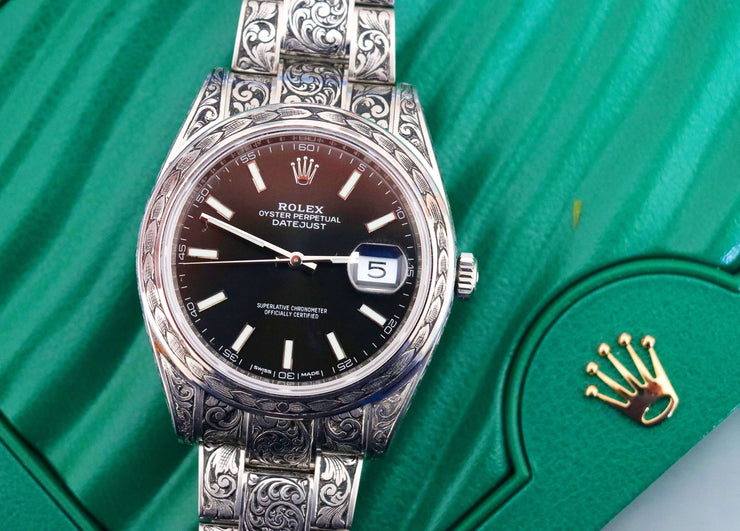 Hand-Engraved Rolex DateJust Ref 126300