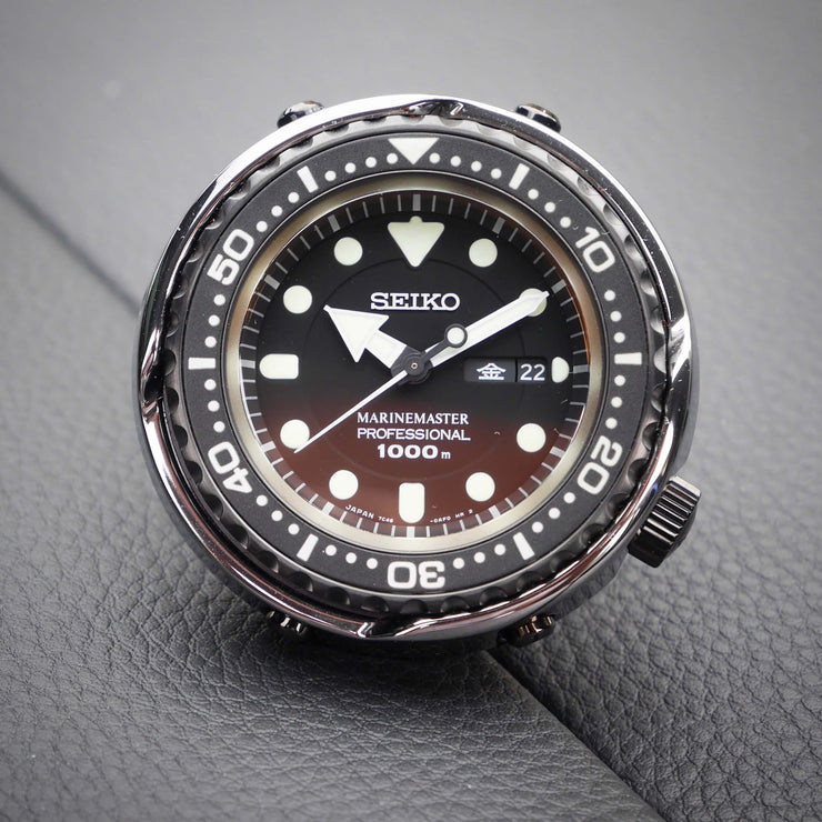 "Seiko ""Platinum Tuna"" MM1000 SBBN029 on metal"