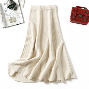 Fashion Havana knitted long skirt