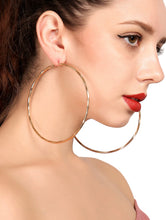 Load image into Gallery viewer, Open Hoop Drop Earrings 1 Pair
