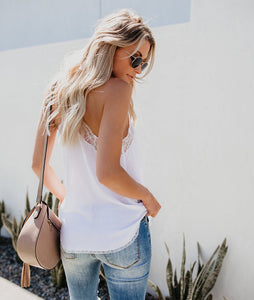 Sleeveless Lace Camis Tank Top