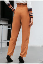 Load image into Gallery viewer, Ruffled Elastic High Waist Button Pants