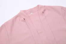 Load image into Gallery viewer, Pink Elegant Bow Chiffon Blouse