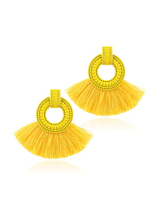 Tassel Hoop Drop Earrings 1 Pair