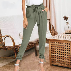 Elastic High Waist Harem Pants