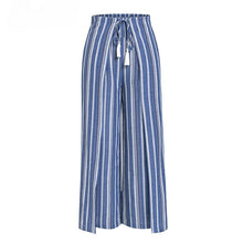 Load image into Gallery viewer, High Waist Sashes Tassel Pleated  Cotton Linen Pants