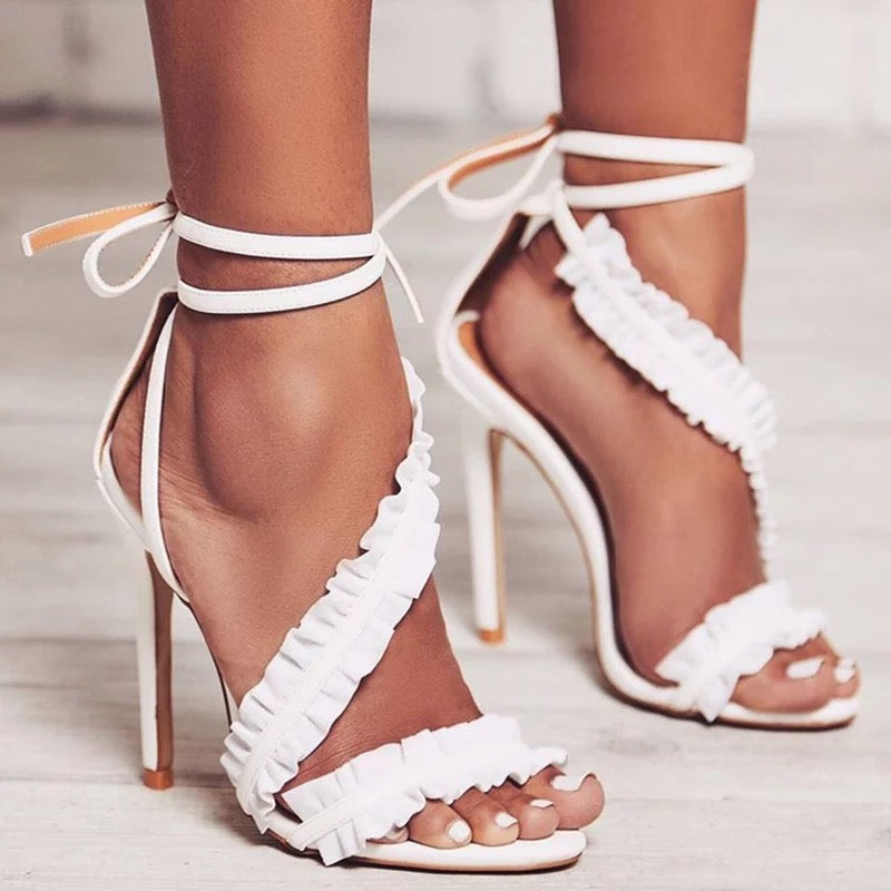 Cross Bandage High Heels
