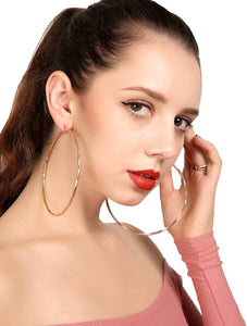 Open Hoop Drop Earrings 1 Pair