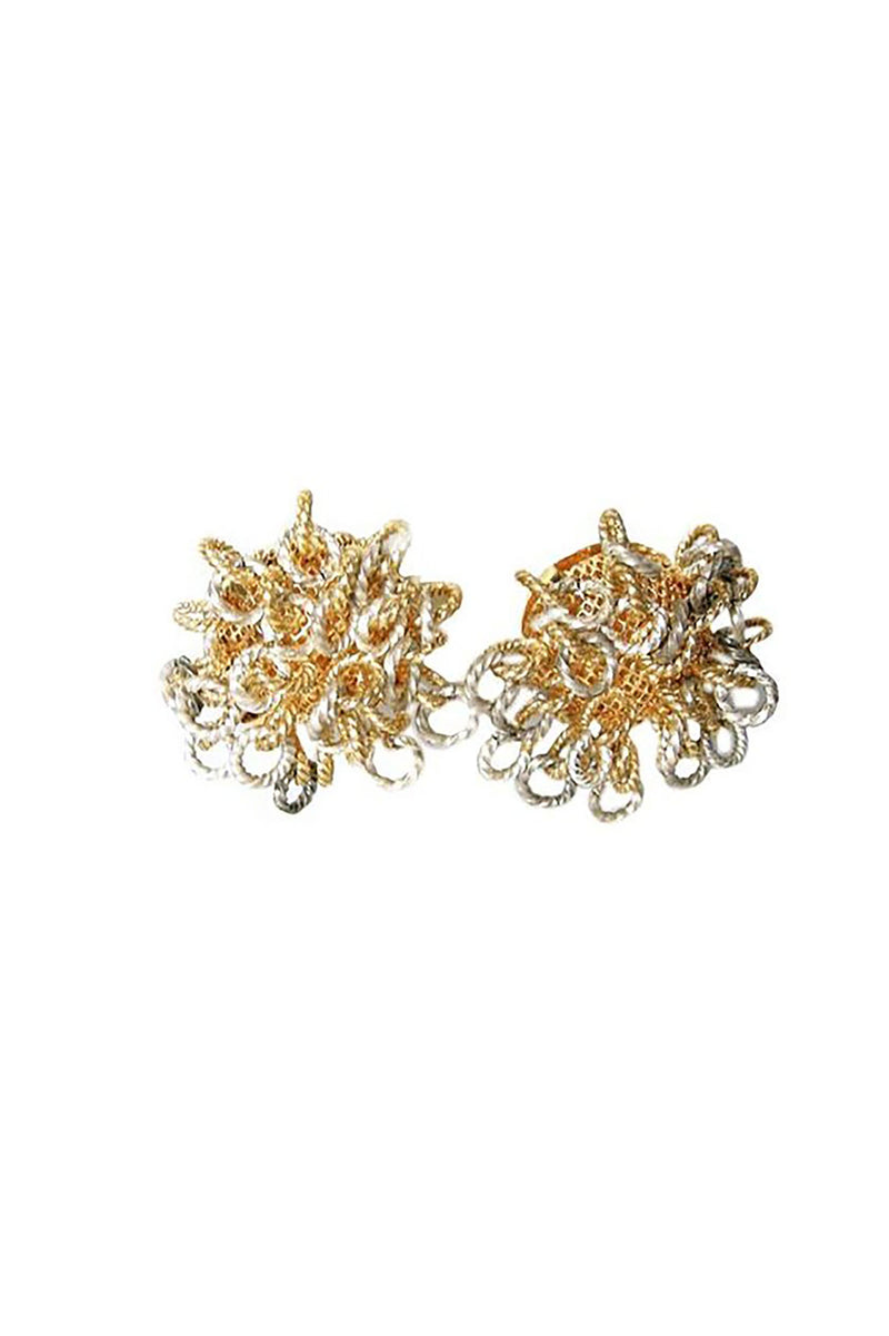 Vintage French Mixed Clip Earrings