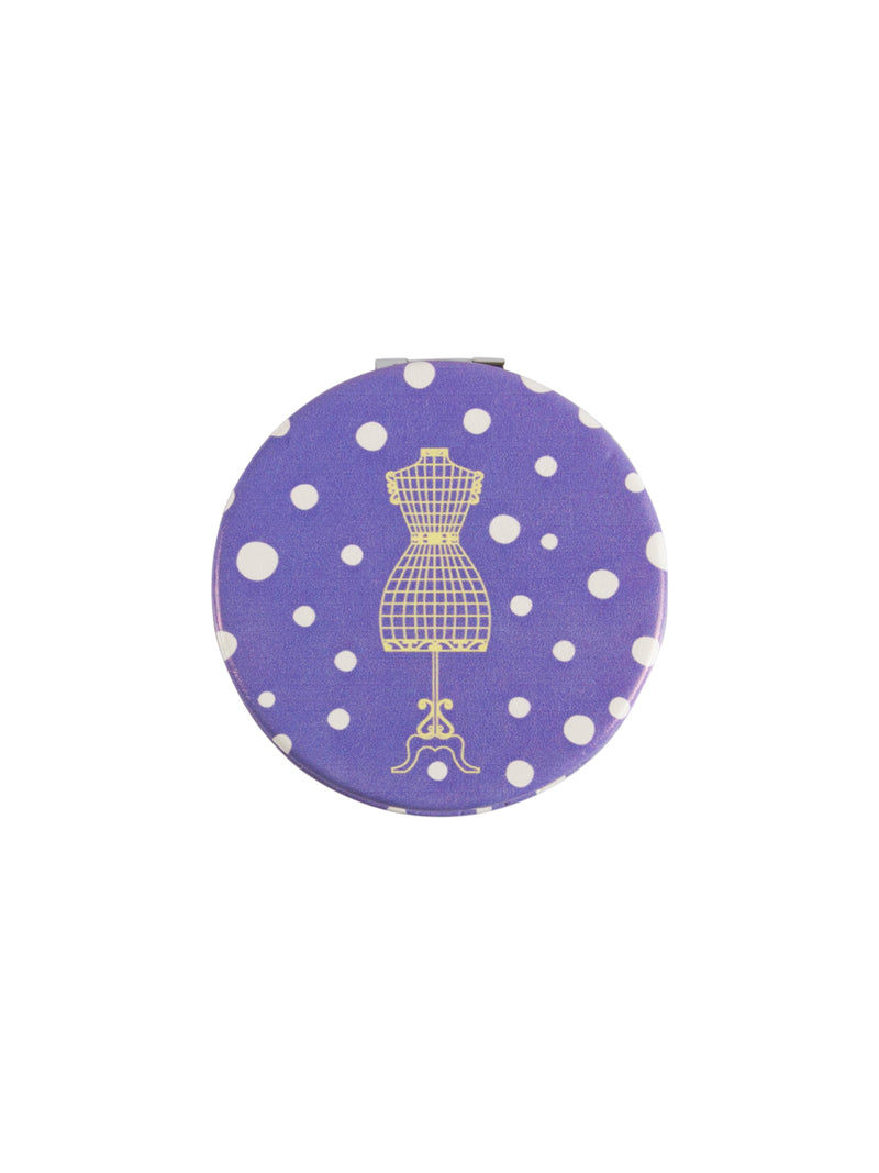 Spotty Print Compact Mirror