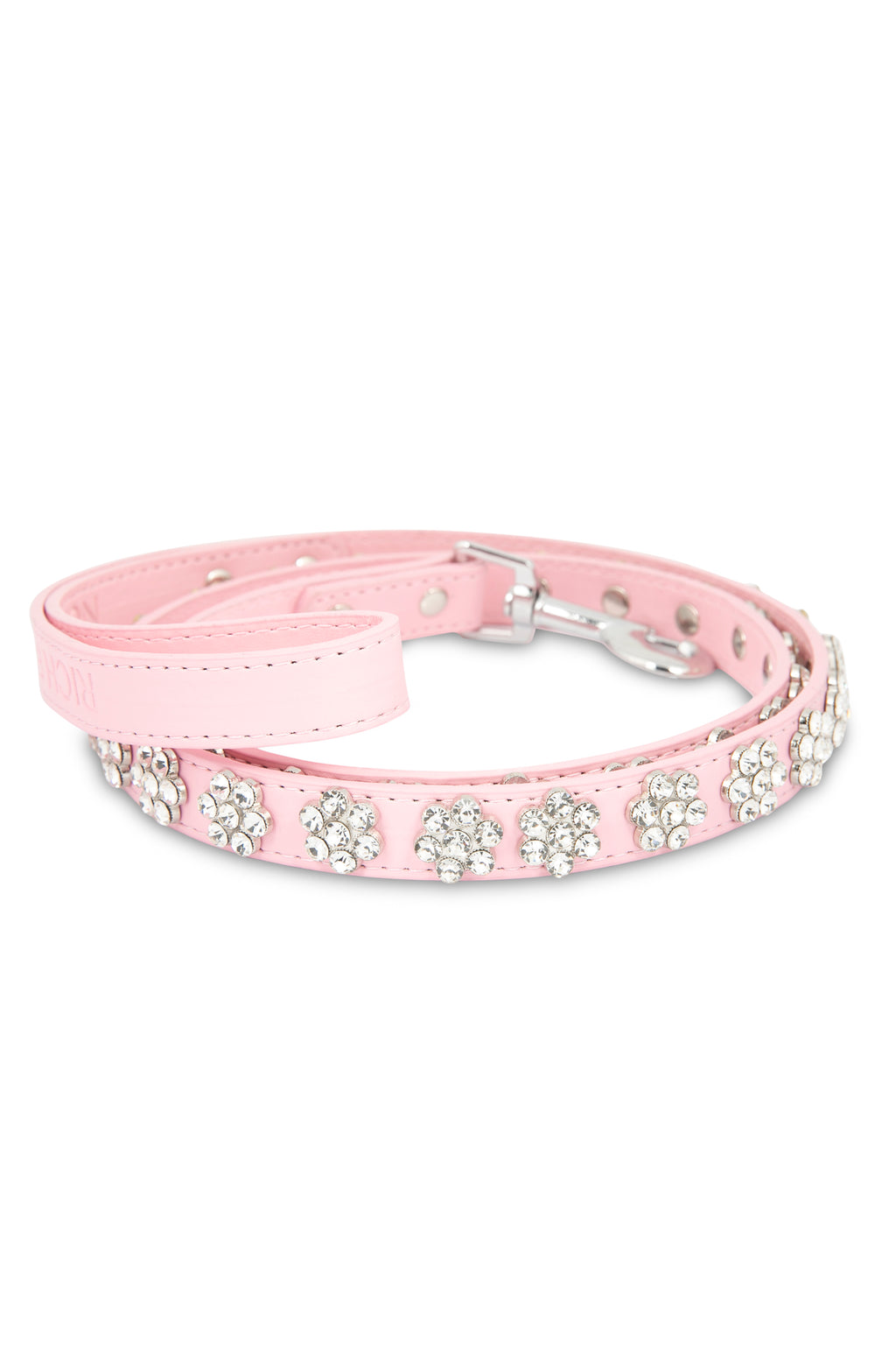 Flower Rhinestone Pink Leash
