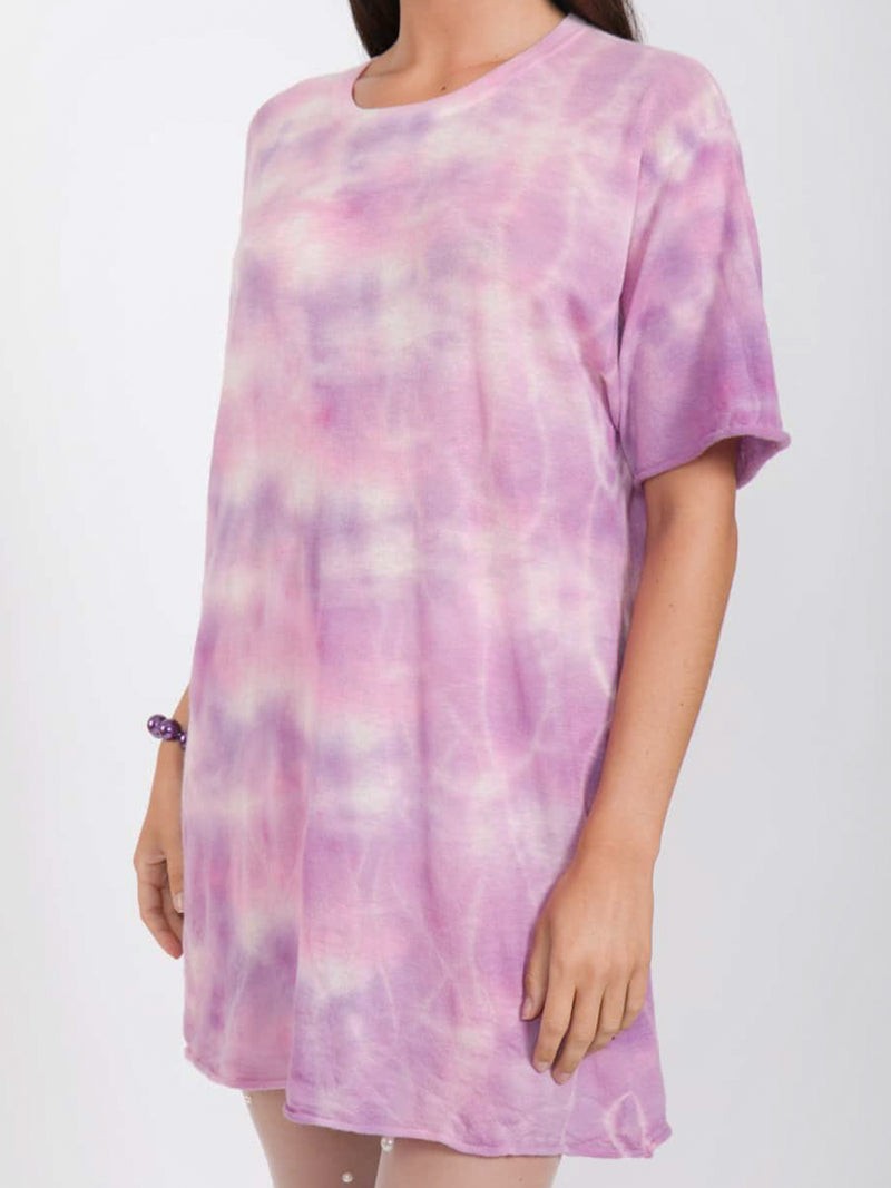 Purple Tie Dye Cashmere Jumper by SW3