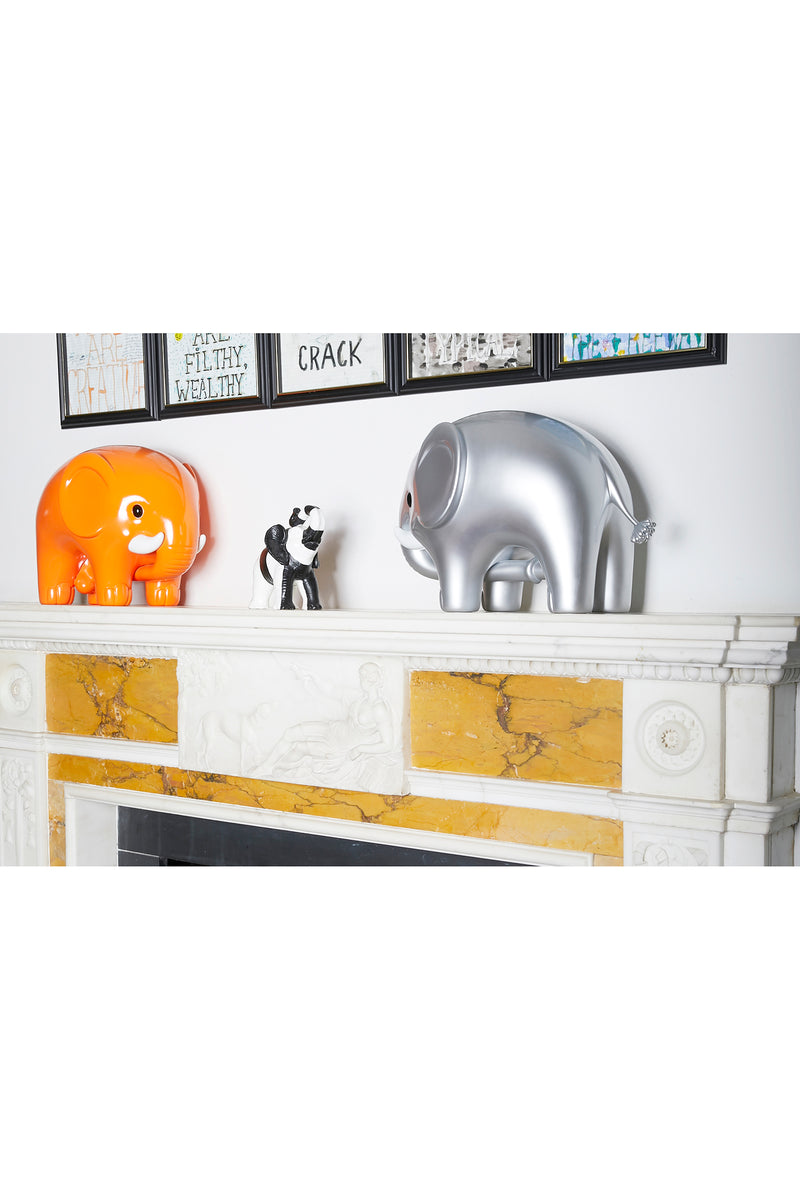 Lucky Monochrome Elephant Candle