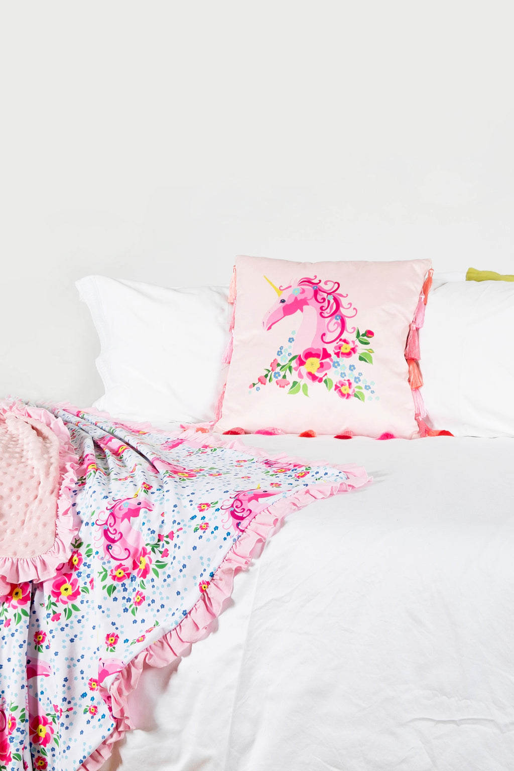Unicorn Cushion with Tassels