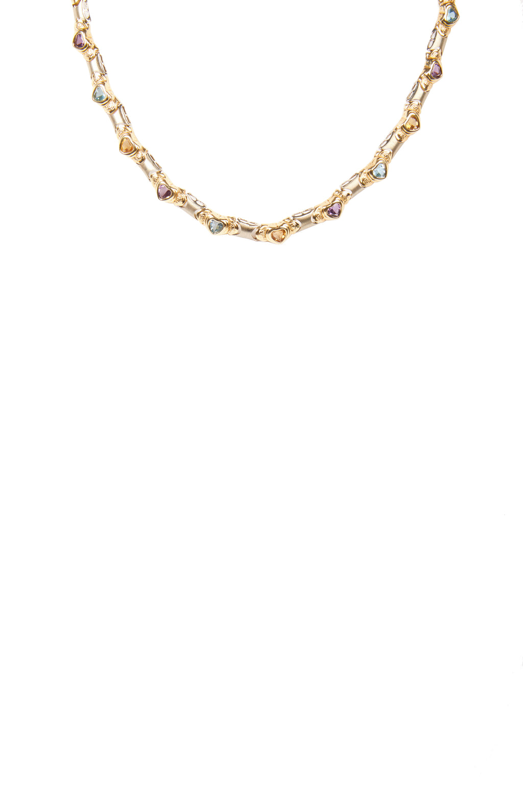 Heart Shape Diamond Gold Chocker Necklace