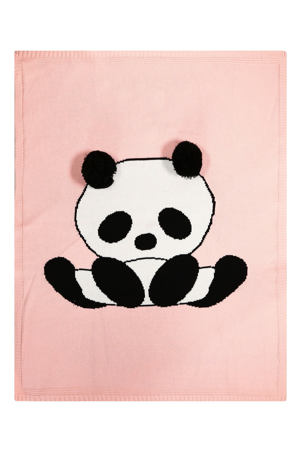 Panda Knitted Cotton Blanket