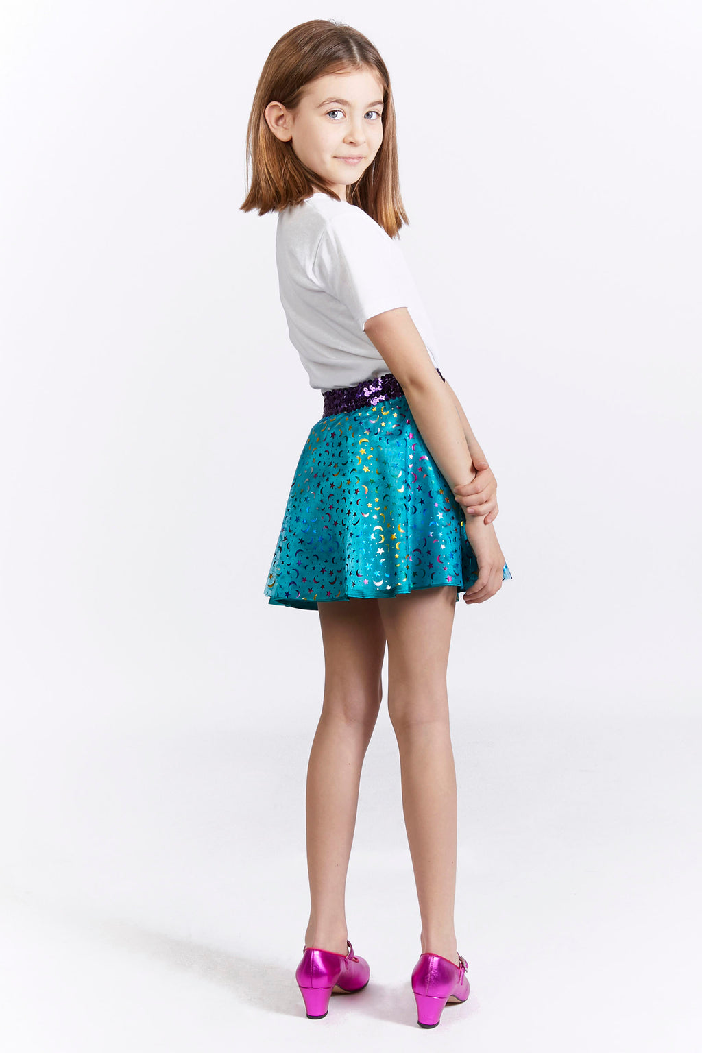 Kids Metallic Sequin Party Skirt