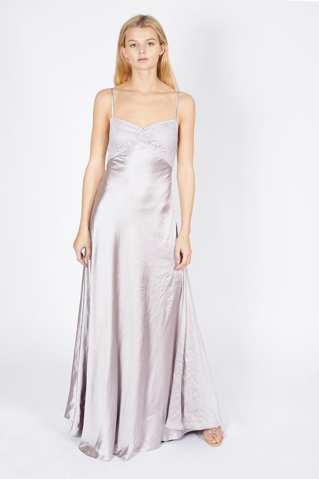 Satin Strappy Maxi Dress