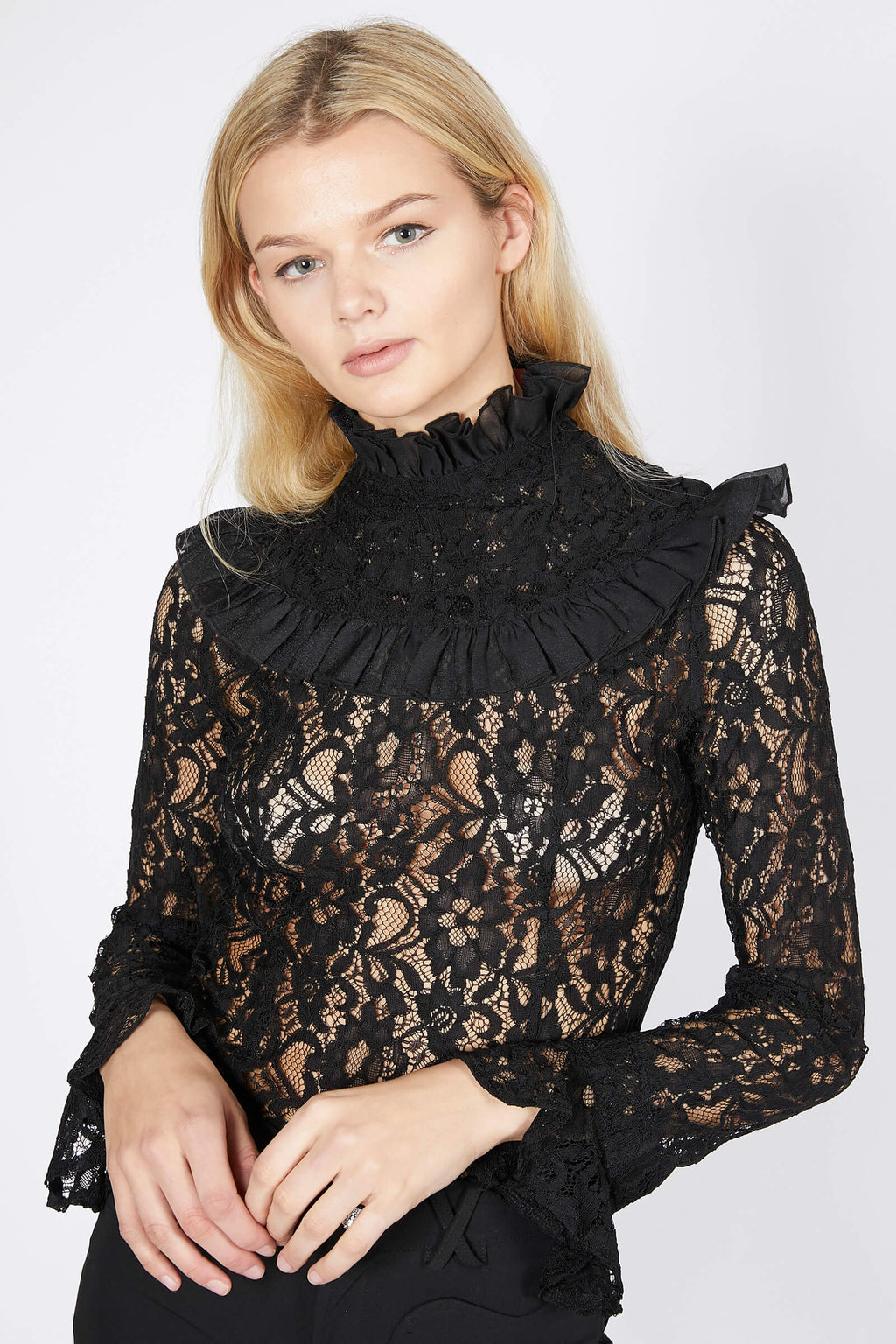 Victorian High Neck Blouse