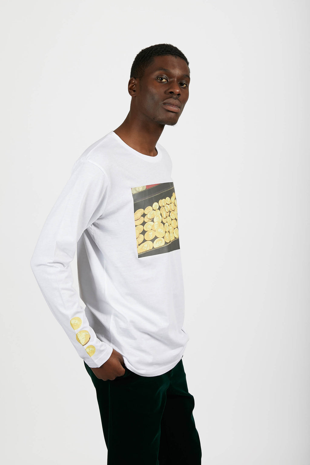 Kenny Schachter 'Art Coins' Long Sleeve Top