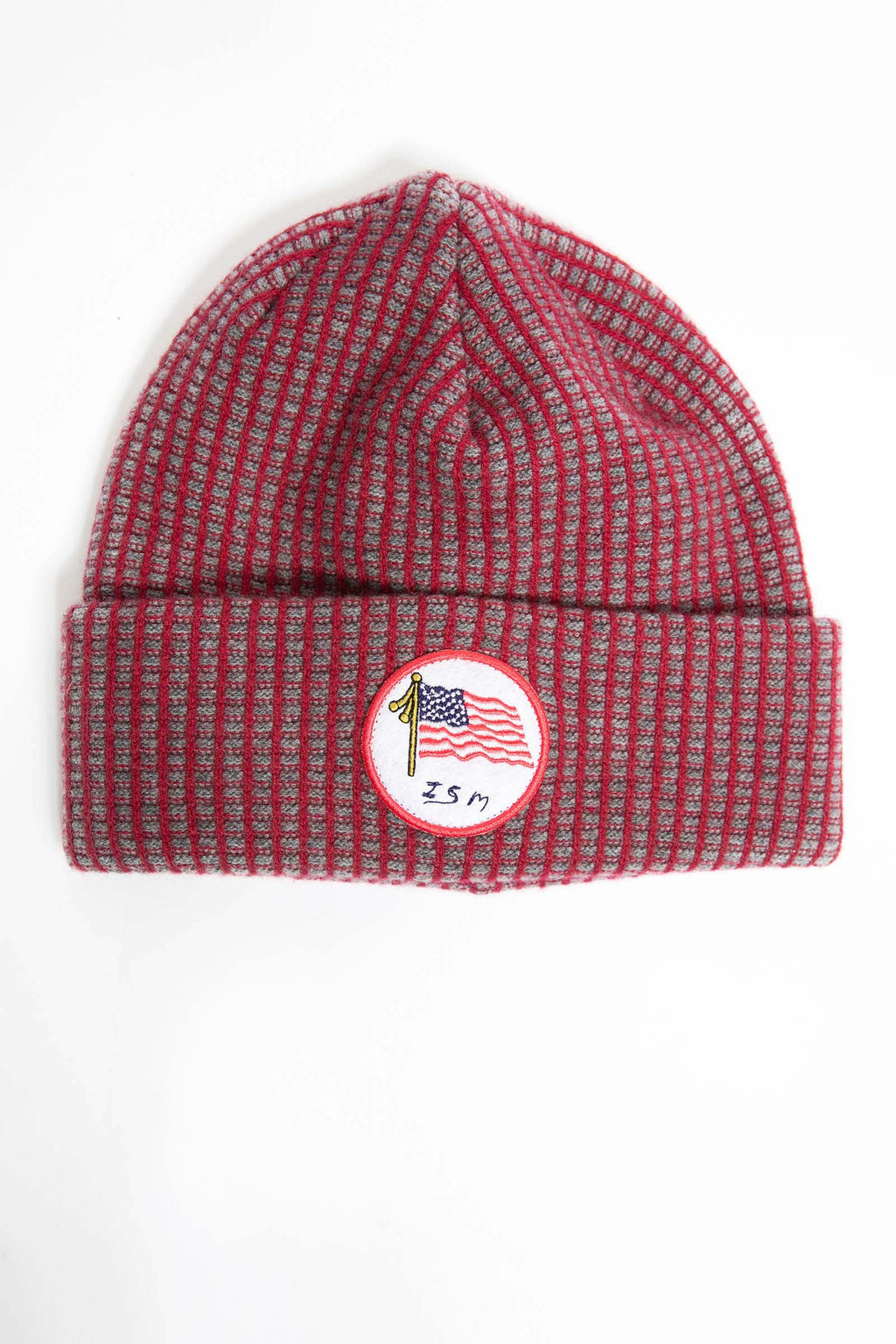 I.S.M. 'American Flag' Red Cashmere Beanie