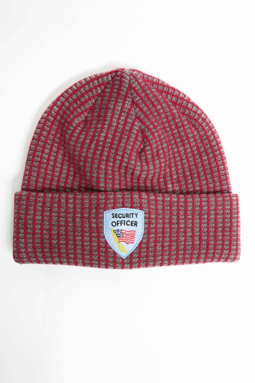 I.S.M. 'Security Officer' Red Cashmere Beanie
